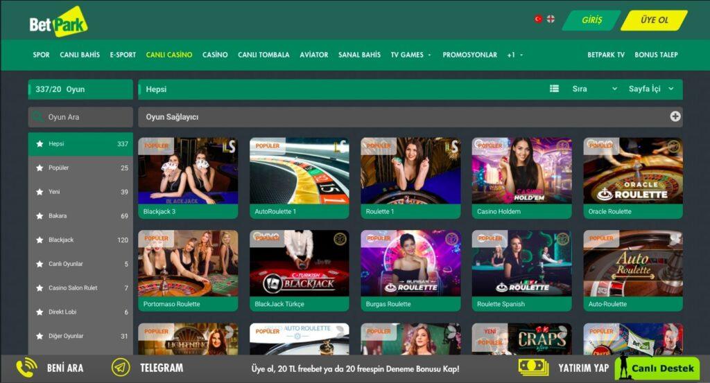 Betpark Canlı Casino Adresi